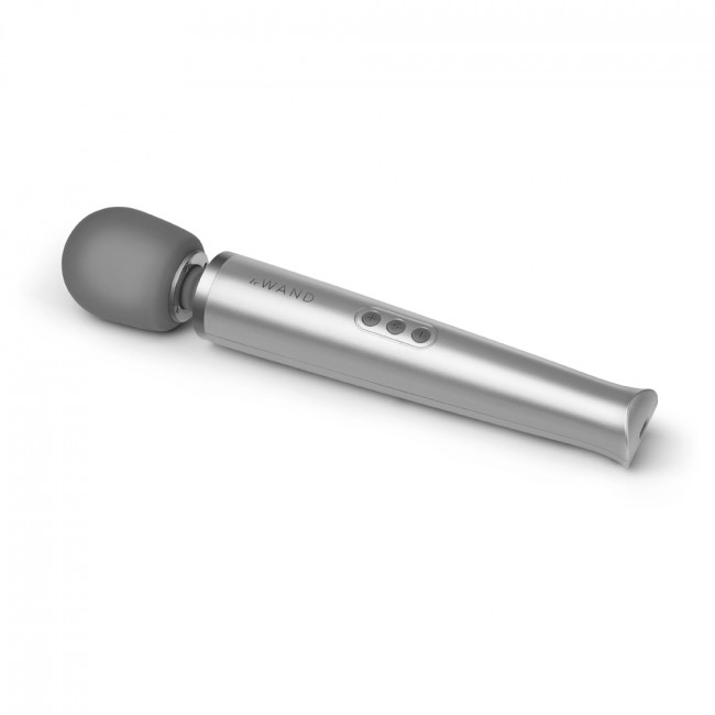 Wand Rechargeable Vibrating Massager - Grey