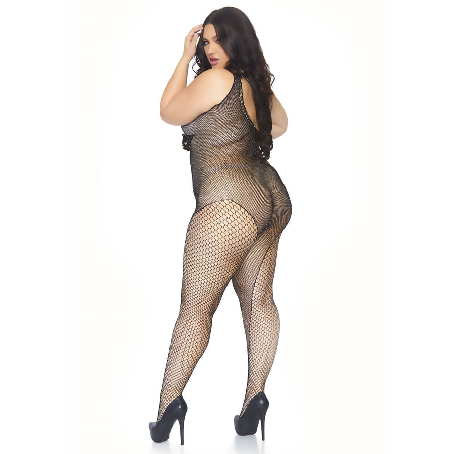 NAUGHTY LIST CURVY CRYSTAL BODYSUIT