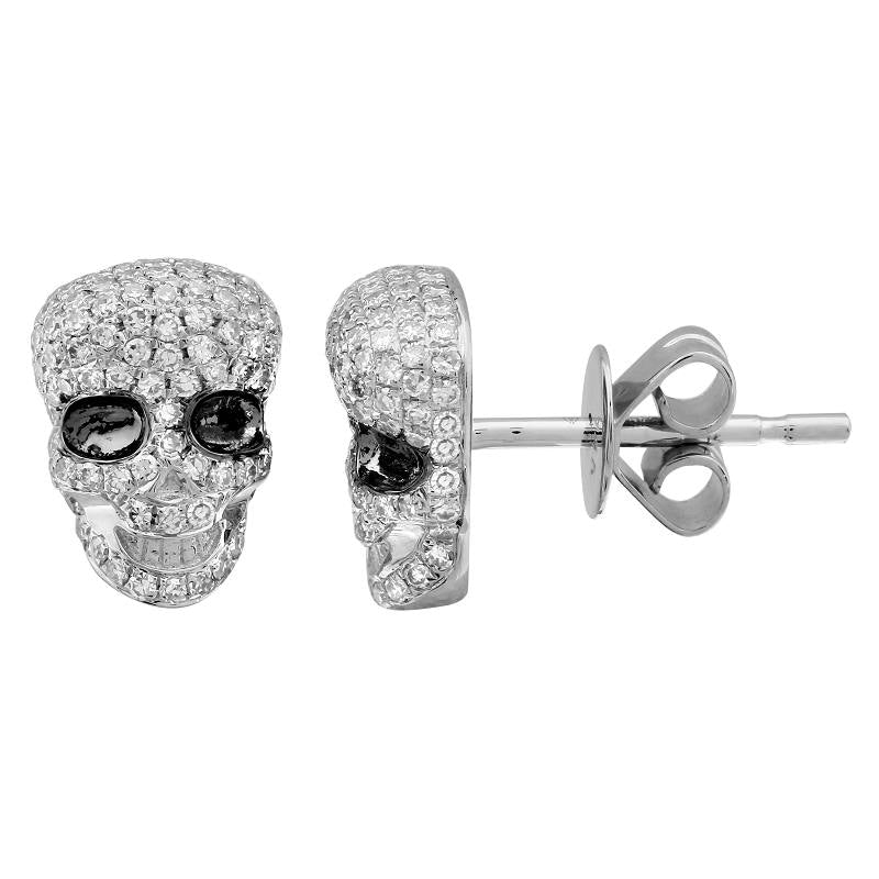 SKULL DIAMOND EARRINGS