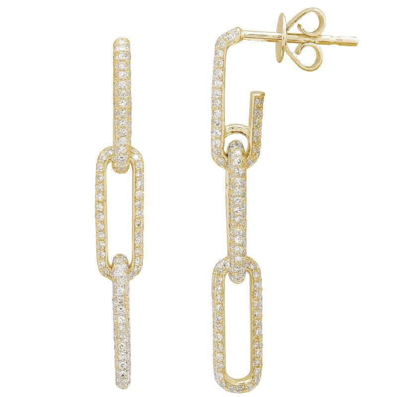 DIAMOND LINK DROP EARRINGS