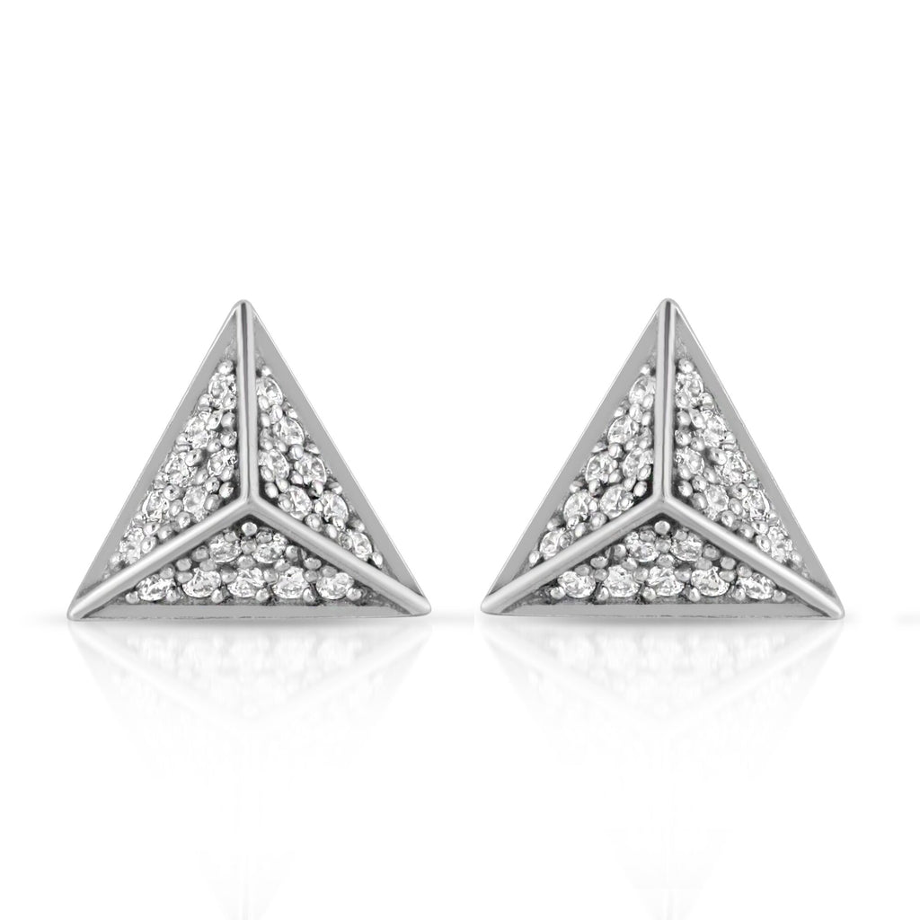 WHITE GOLD CARLY STUD EARRINGS