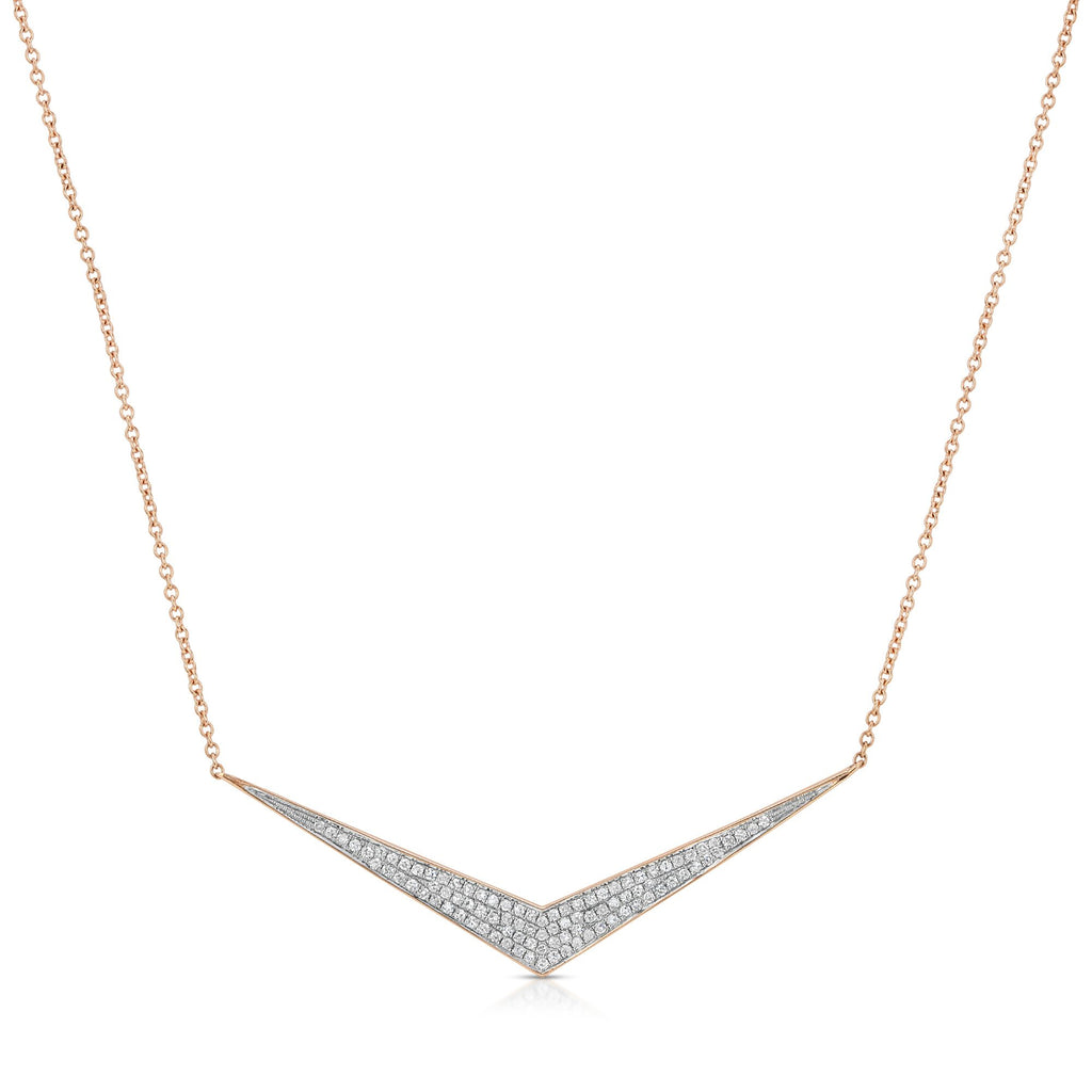 14K ROSE GOLD NECKLACE WITH DIAMONDS