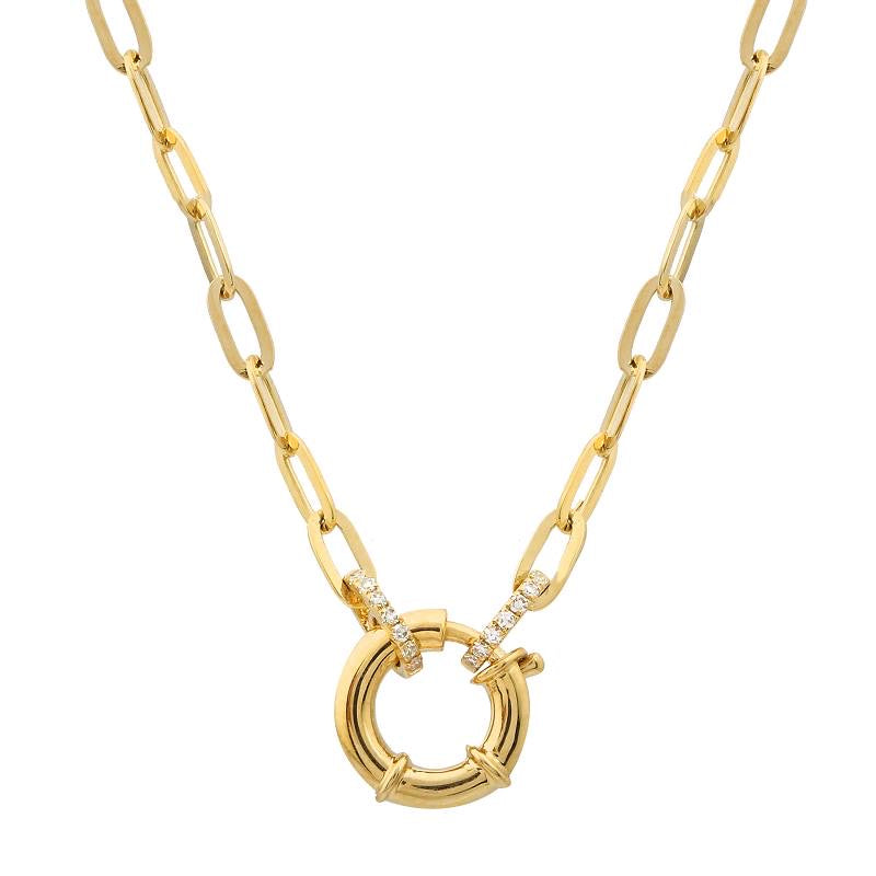 SMALL SPRING CLASP LINK CHAIN NECKLACE