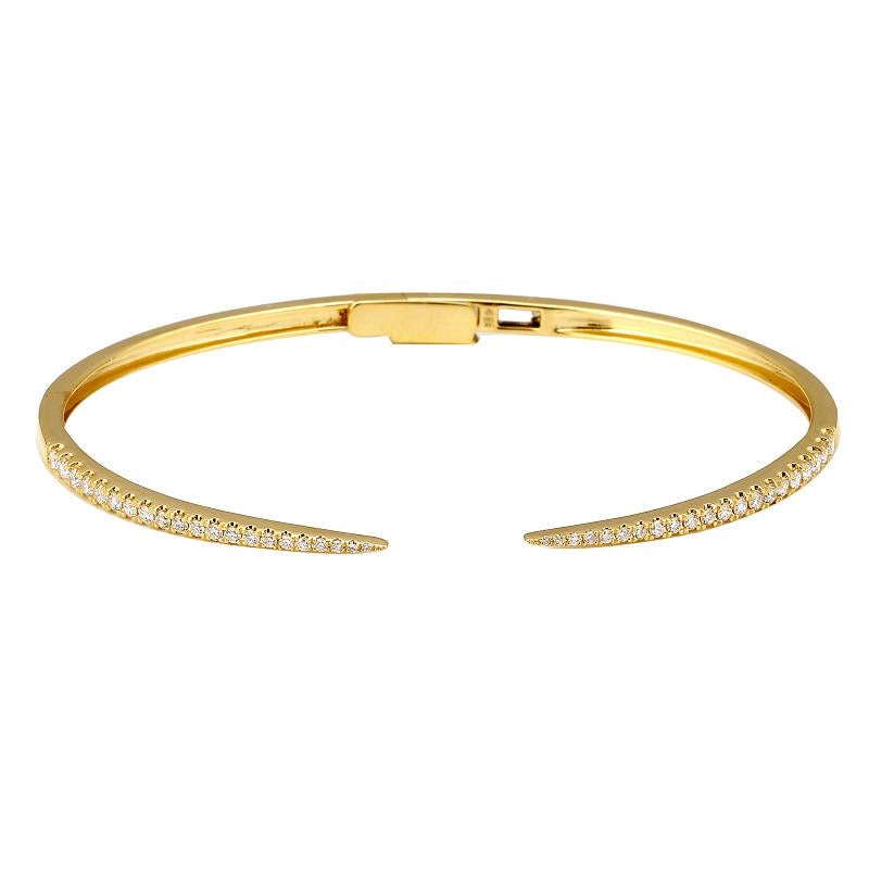 CLAW DIAMOND BANGLE