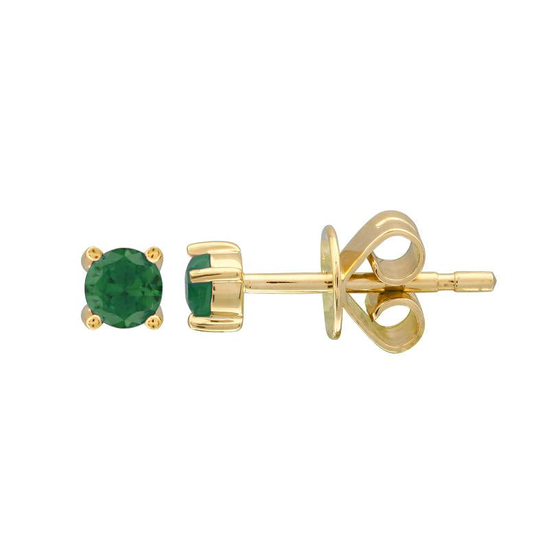 EMERALD BIRTHSTONE STUD EARRINGS