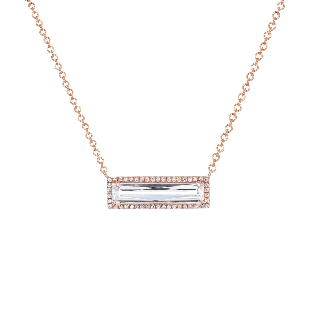 TOPAZ BAR NECKLACE