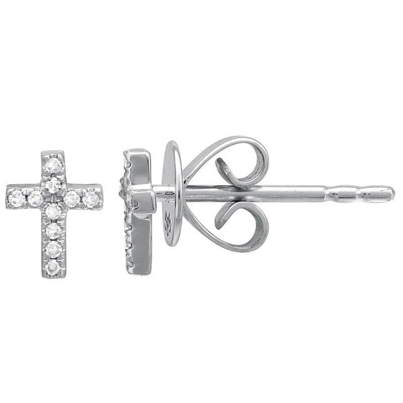 CROSS STUD EARRINGS (SOLD AS SINGLE)