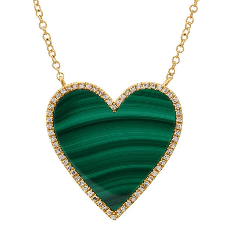 MALACHITE HEART NECKLACE