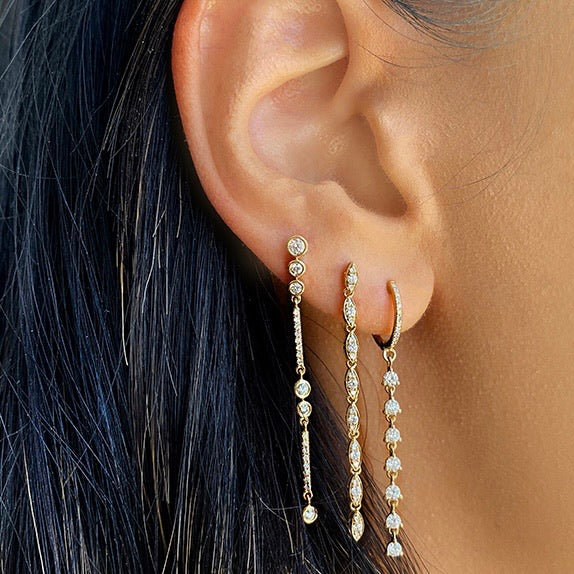 DANGLING STUD EARRINGS