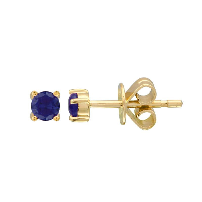SAPHIRE BIRTHSTONE STUD EARRINGS