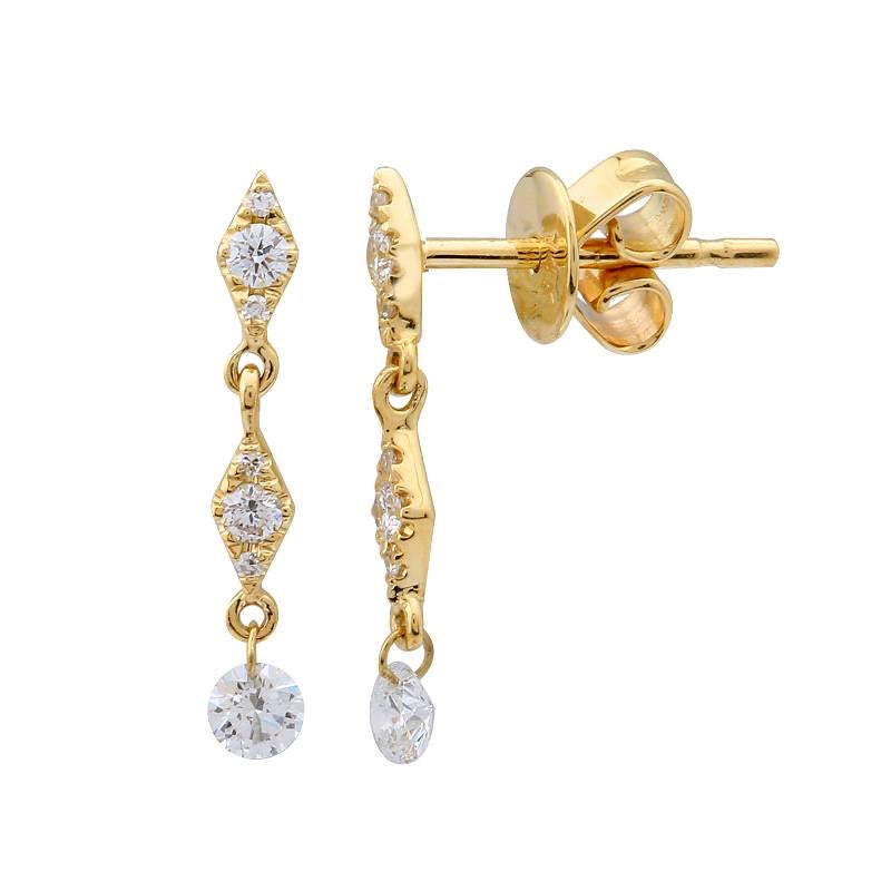 FLOATING DIAMOND DROP EARRINGS