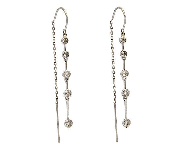 WHITE GOLD MAYA EARRINGS