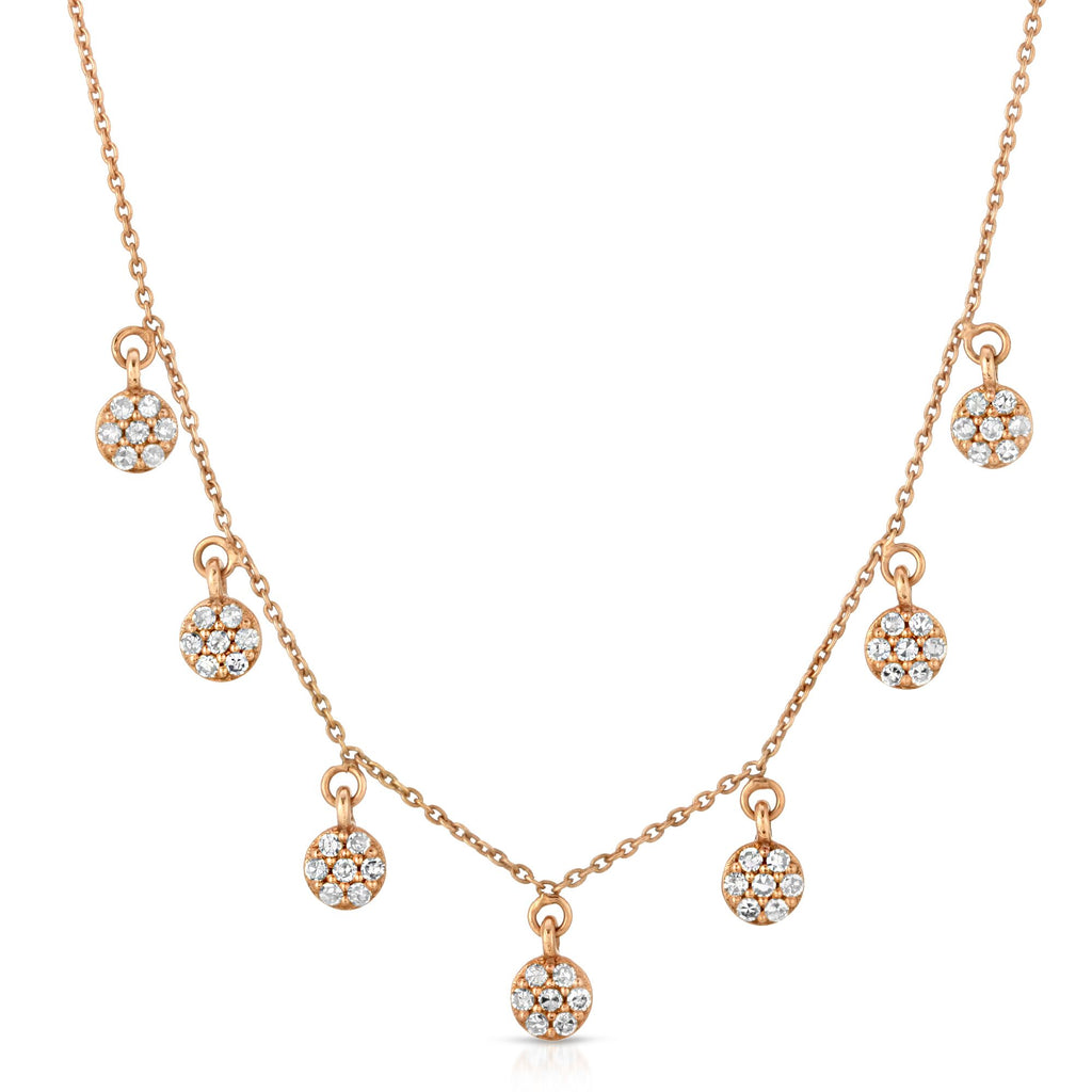 14KT ROSE GOLD WITH DIAMONDS CAMILA NECKLACE