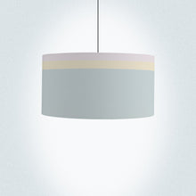 "Load image into Gallery viewer, Colour Lines Drum Lamp Shade Diameter 45cm (18"") Ceiling or floor lamp - Meretant Decor"