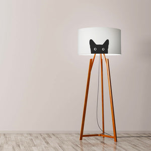 "Cat Drum Lamp Shade Diameter 45cm (18"") Ceiling or floor lamp - Meretant Decor"