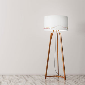 "Fuji Mount Drum Lampshade Diameter 45cm (18"") Ceiling or floor lamp - Meretant Decor"