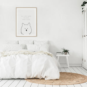 Dog Caption - All you need is love and dog - Meretant Decor
