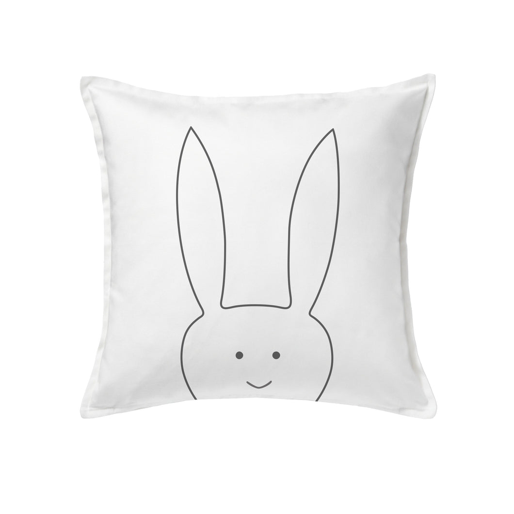 Rabbit cushion or cover 50x50cm (20x20