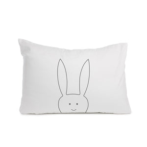 Rabbit pillowcase Cot bed or Standard size - Meretant Decor