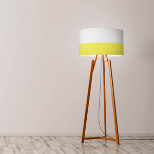 "Yellow Line Drum Lamp Shade Diameter 45cm (18"") Ceiling or floor lamp - Meretant Decor"