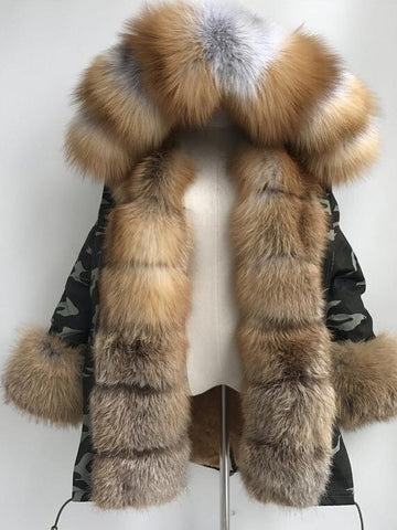 Winter Warm Fluffy Coat Faux Fur Parka