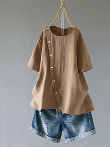Short Sleeve Casual Buttoned Shirts