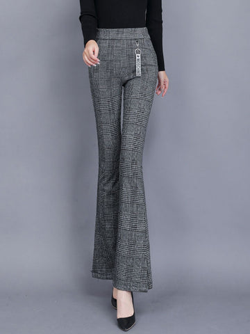 Gray Work Patchwork Pants
