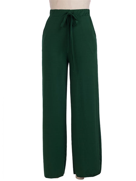 Fashion Women Solid  Casual  Straight Pants