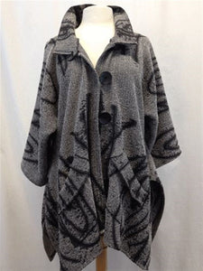 Autumn Casual Printed Basic Oversize Knitted Coat