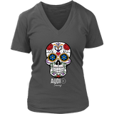 Sugar Skull Audio Swag Ladies V-neck T-shirt