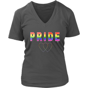 Pride Love Is Love Ladies V-Neck T-shirt - Audio Swag