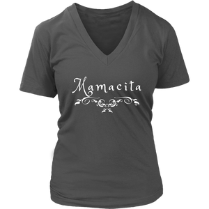 Mamacita Scroll Ladies V-neck T-shirt - Audio Swag