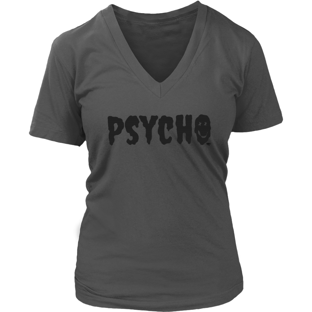 Psycho Fun Ladies V-Neck Tee - Audio Swag