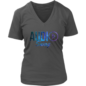 Audio Swag Cosmo Logo Ladies V-neck T-shirt - Audio Swag