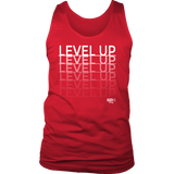 Level Up Fade Mens Tank Top - Audio Swag