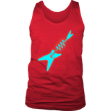 Neon Electric Guitar Mens Tank - Audio Swag