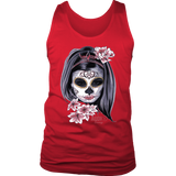 Day Of The Dead Woman Mens Tank Top - Audio Swag