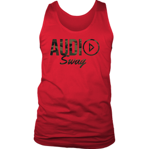 Audio Swag Camo Logo Mens Tank Top - Audio Swag