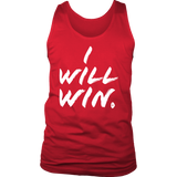 I Will Win Mens Tank Top - Audio Swag