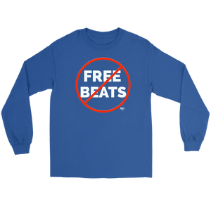 No Free Beats Long Sleeve T-shirt - Audio Swag