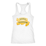 Goal Digger Ladies Racerback Tank Top - Audio Swag
