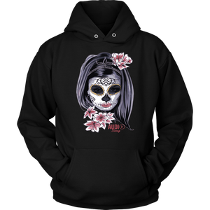 Day Of The Dead Woman Hoodie - Audio Swag