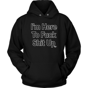 I'm Here To Fuck Shit Up Hoodie - Audio Swag