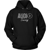 Audio Swag White Cheetah Logo Hoodie - Audio Swag