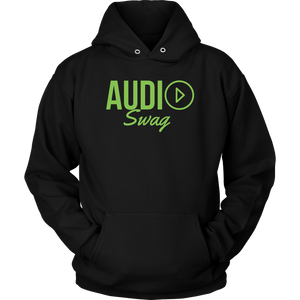 Audio Swag Green Logo Hoodie - Audio Swag