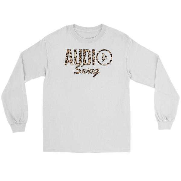 Audio Swag Leopard Logo Long Sleeve T-shirt - Audio Swag