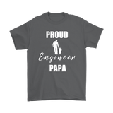 Proud Engineer Papa Mens T-shirt - Audio Swag