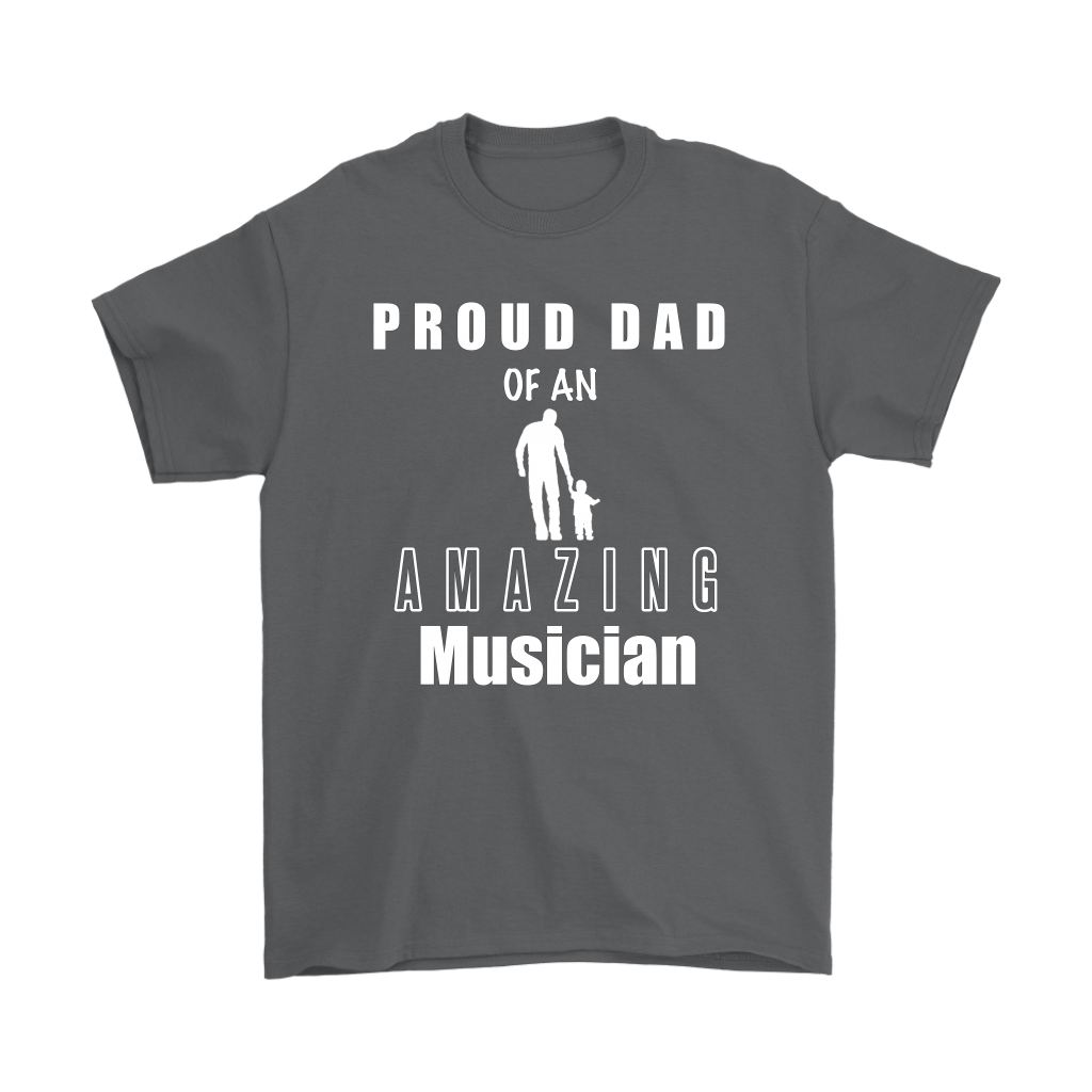 Proud Dad of an Amazing Musician Mens T-shirt - Audio Swag
