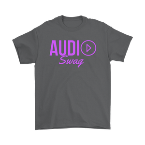 Audio Swag Fuschia Logo Mens T-shirt - Audio Swag