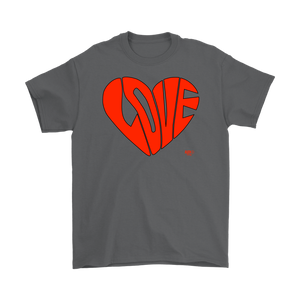 Love Heart Graphic Mens T-shirt